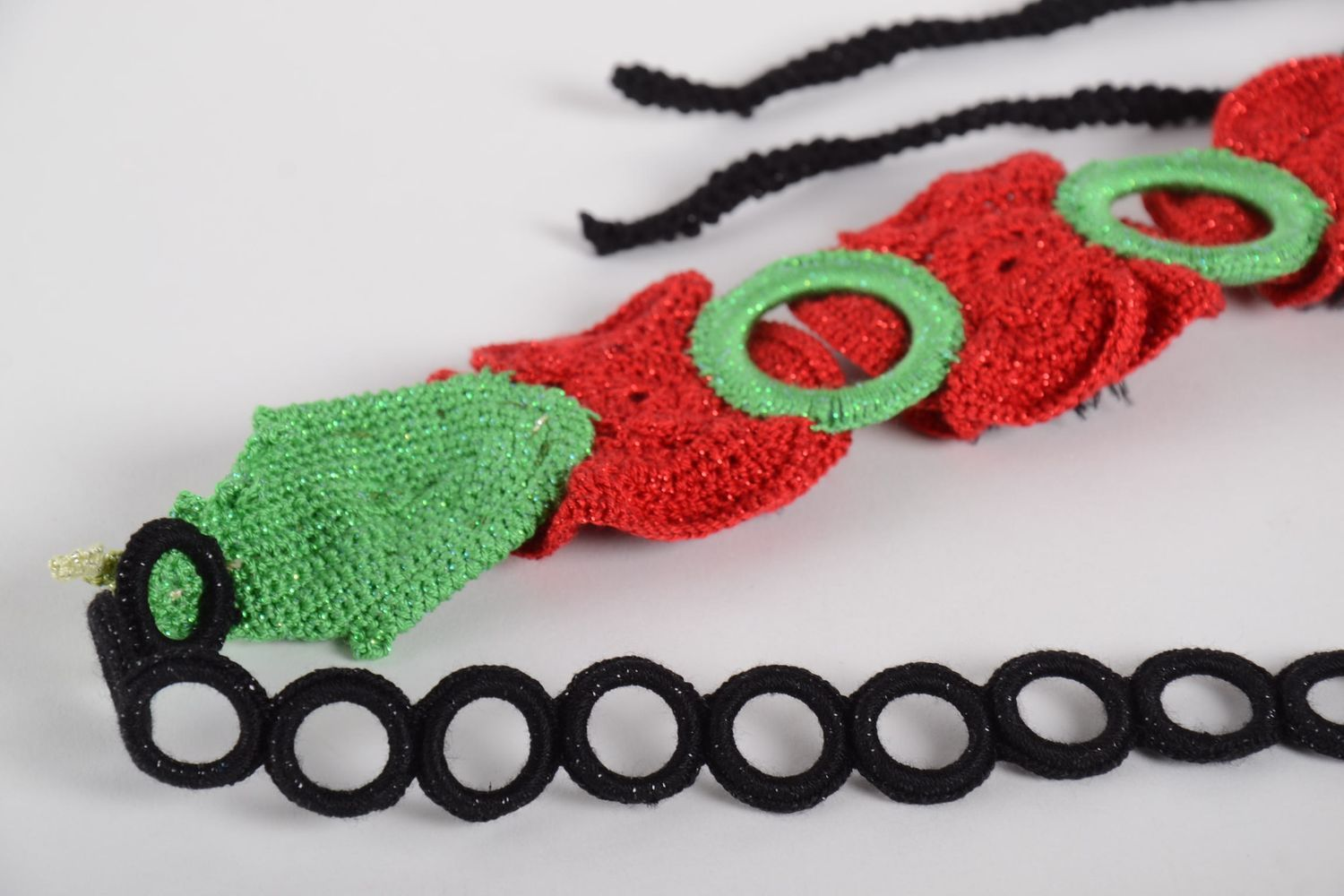 Handmade womens accessories crochet belt woven belt fashion accessories photo 8