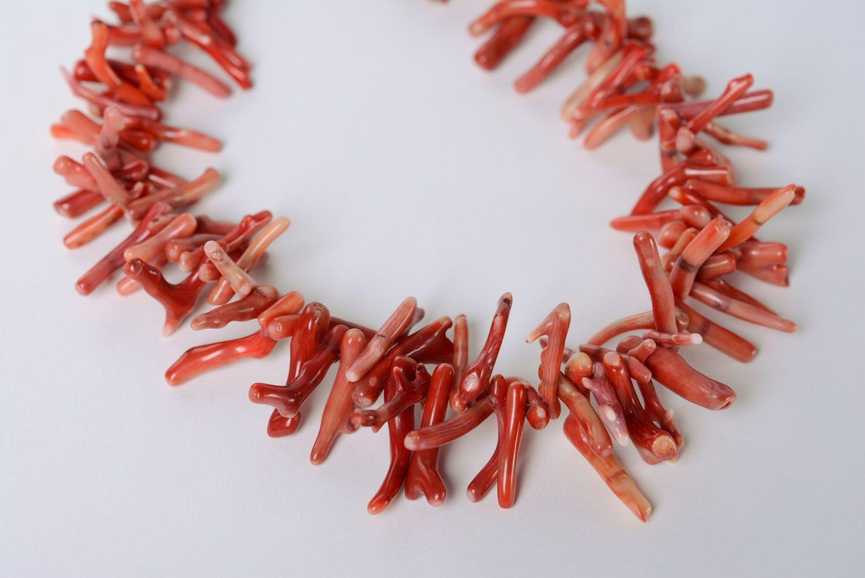 Handmade Collier aus Koralle  foto 3