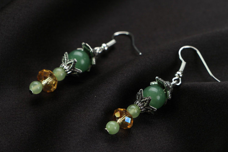 Homemade earrings Apple Blossom  photo 2