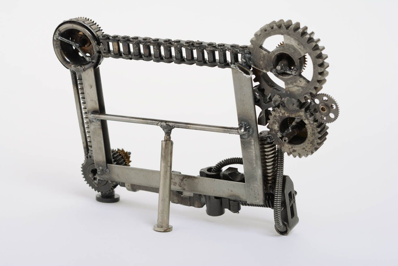 Marco de foto de metal artesanal en estilo de techno art 10x15 horizontal - MADEheart.com