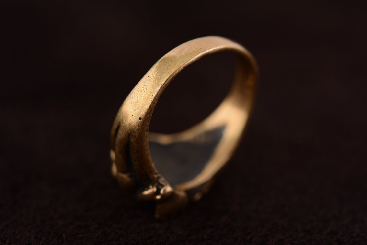 Bronze seal ring Dragon photo 5
