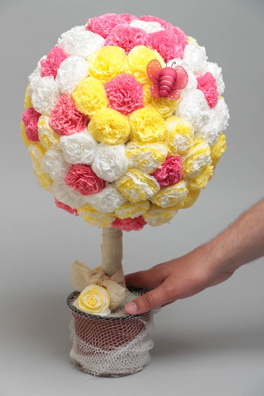 Топиарий цветы из бумаги своими руками мастер класс