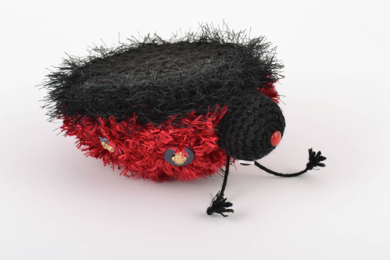 Handmade soft crochet wool toy for children beautiful Ladybug amigurumi photo 5