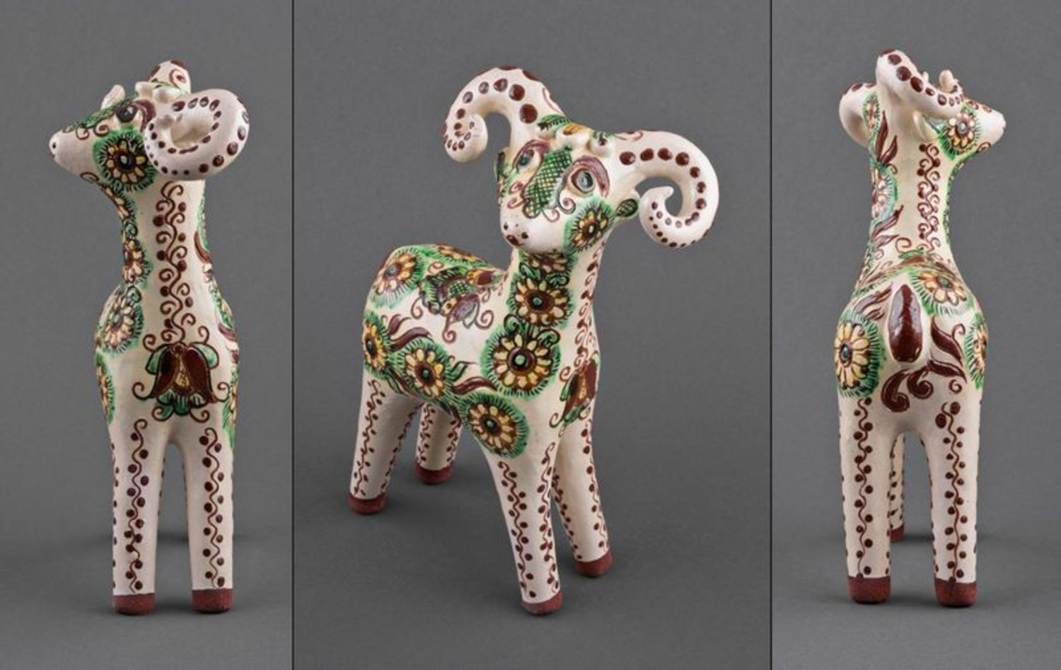 A set of clay figurines Baby Deers photo 5