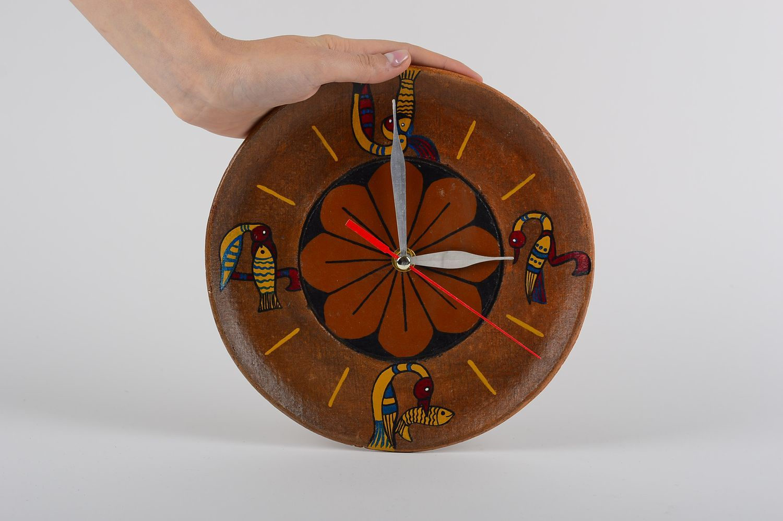 Madeheart Unusual Handmade Ceramic Clock Funky Wall Clock Design