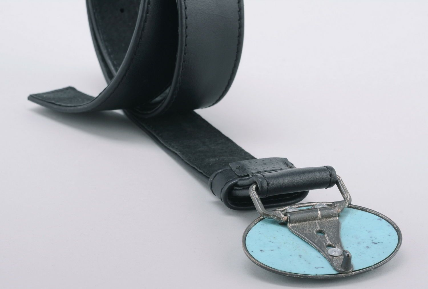 Woman's belt Turquoise photo 4