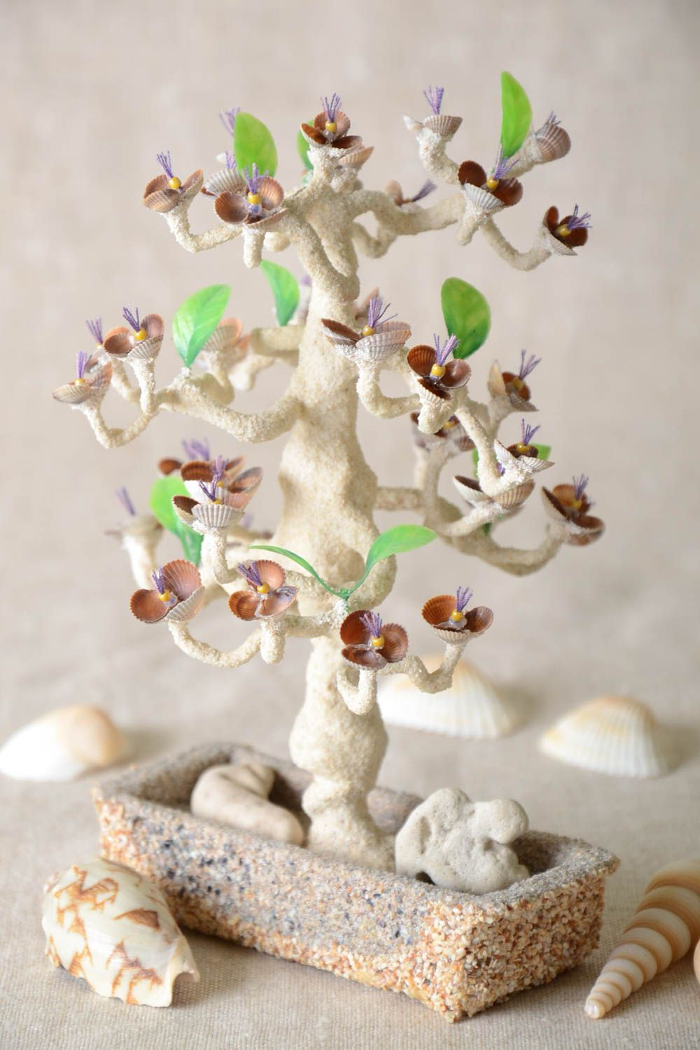 Handmade tree with flowers tree with artificial flowers home decor table decor photo 1
