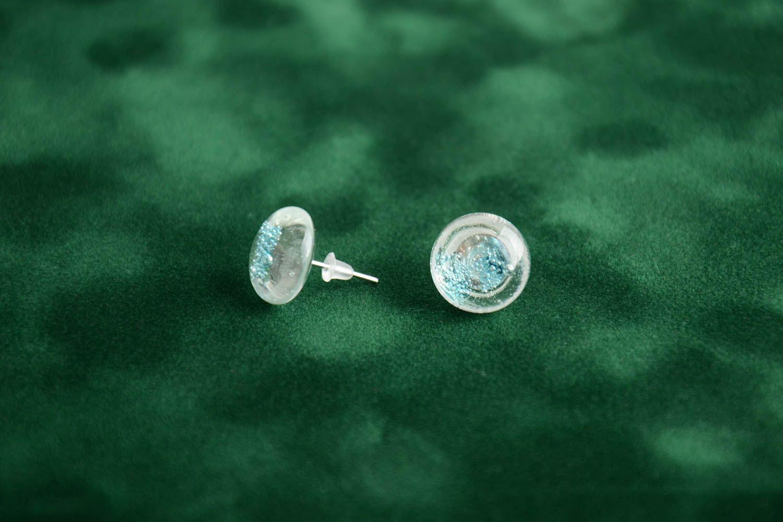 stud earrings Handmade fusing glass earrings designer beautiful tender accessory - MADEheart.com