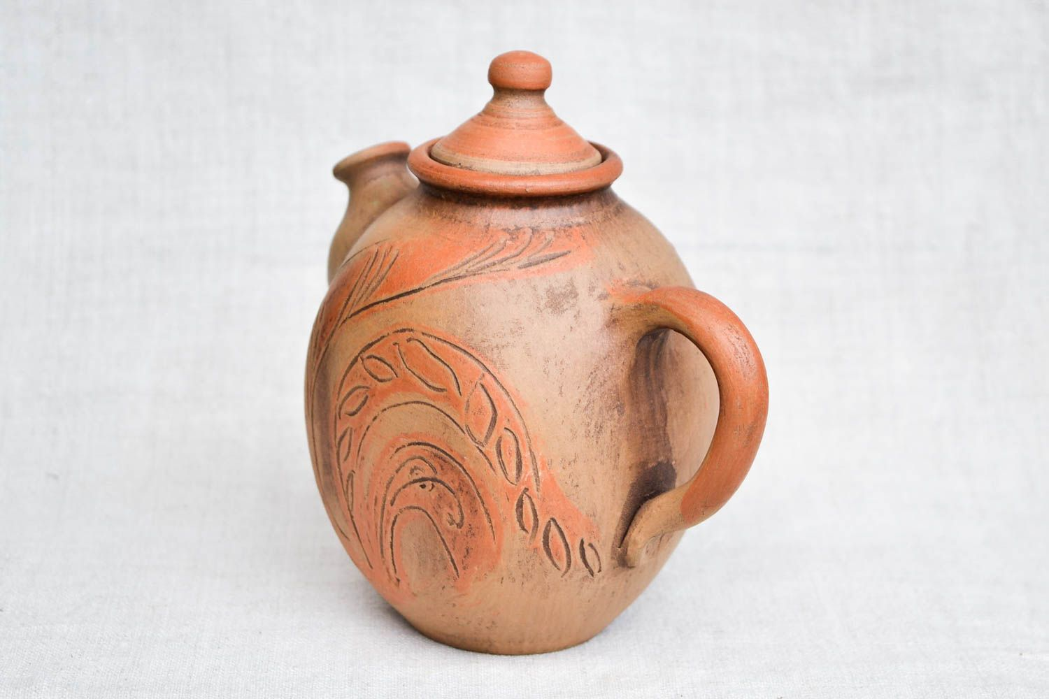 tea pots and coffee pots Handmade pottery clay teapot ceramic teapot clay tableware eco friendly dishes - MADEheart.com