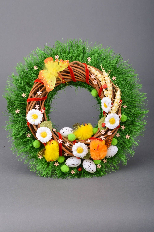 Handmade beautiful decorative door wreath Easter festive beautiful interior ideas photo 5