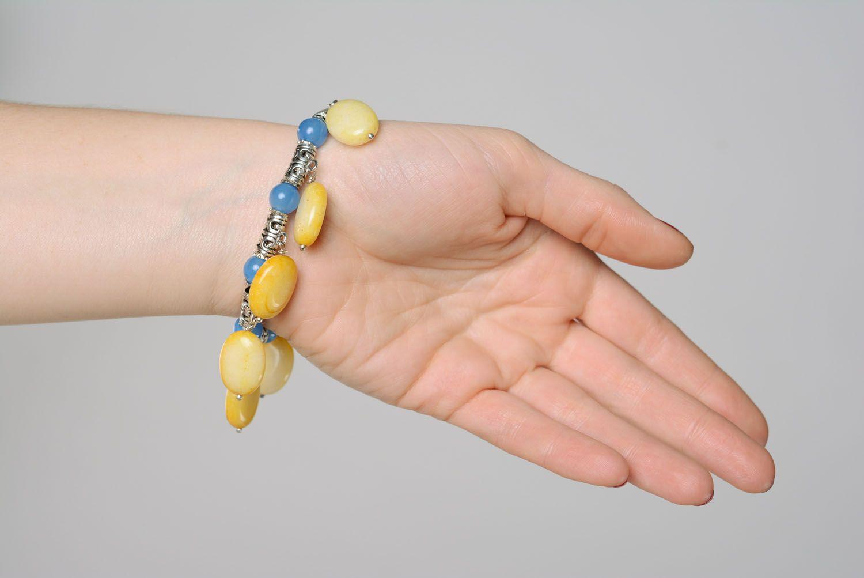 Наручный браслет из натуральных камней фото 4