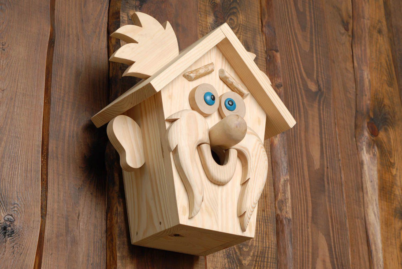 Nichoir En Bois Pour Oiseaux : pour animaux Nichoir pour oiseaux original en bois fait main design en