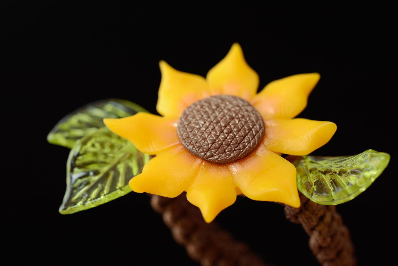 Handmade Armband mit Blume foto 2