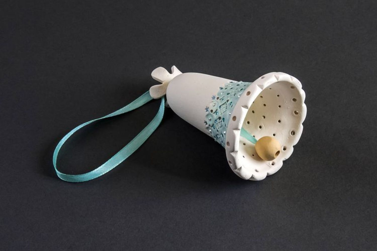 Colourful ceramic bell photo 4