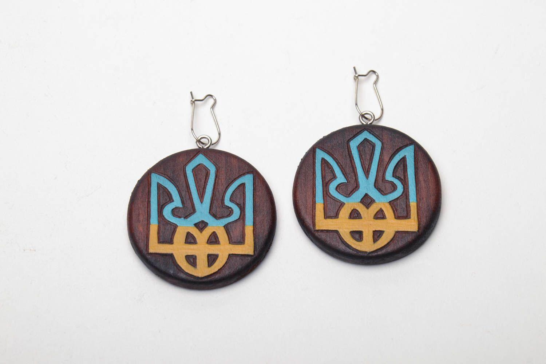 Серьги из дерева Украина фото 2