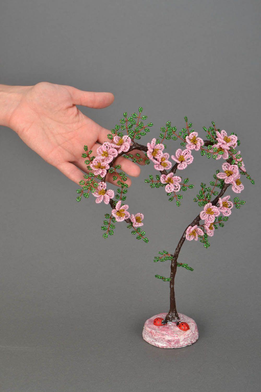 Мастер-класс. Цветущее дерево из бисера. Сердце 294