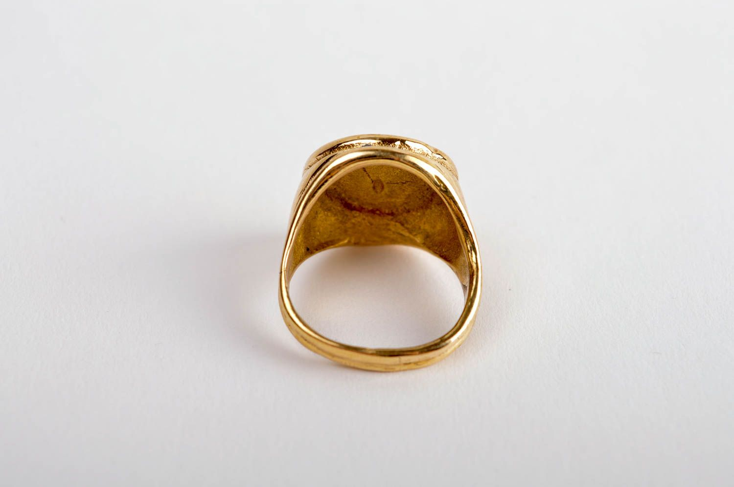 Stylish beautiful ring handmade brass ring metal accessory unisex ring photo 4