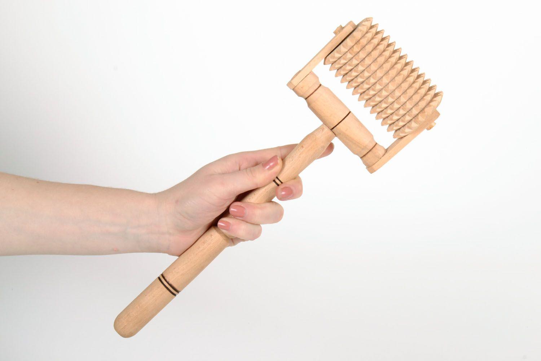 Wooden manual massage tool photo 5