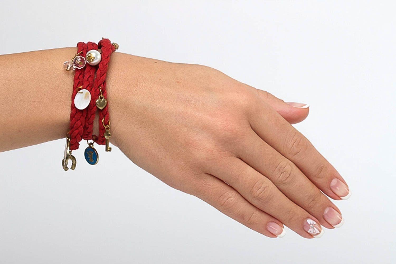c7b6779d941e pulseras textiles Pulsera de moda de color rojo bisutería artesanal regalo  original para mujer - MADEheart
