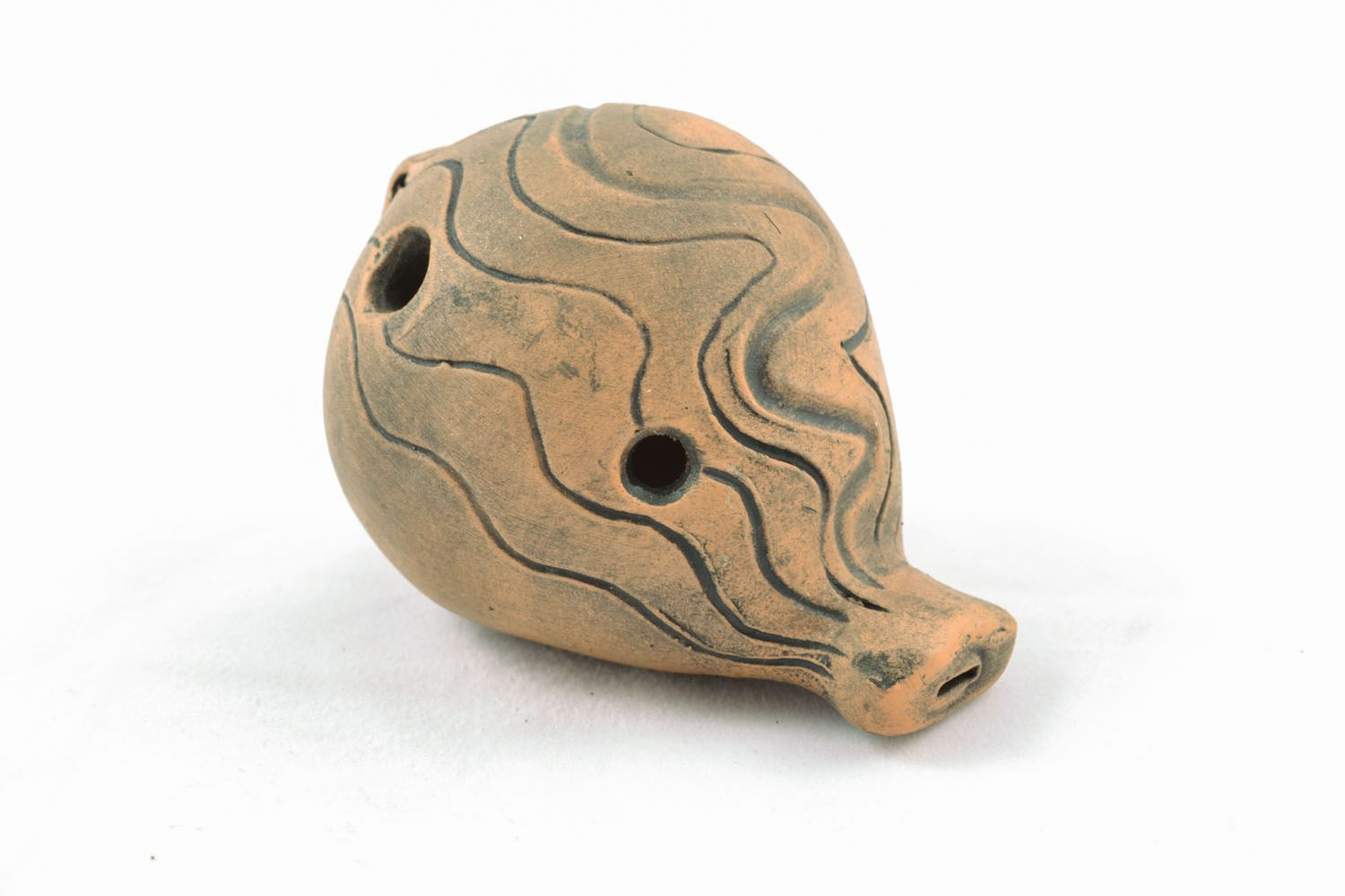 Clay penny whistle photo 3