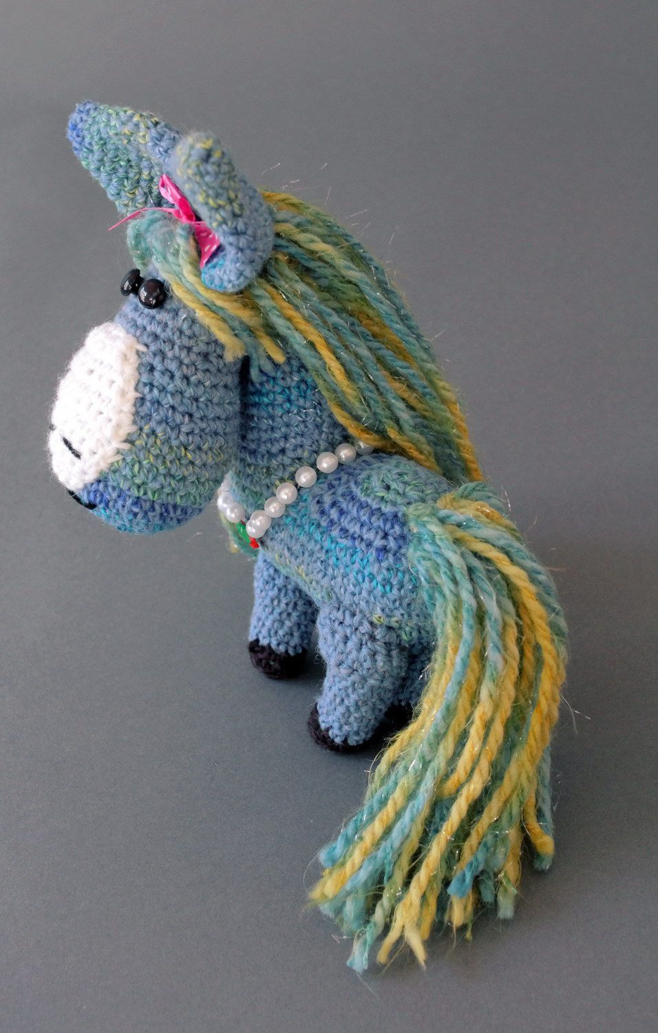 Soft toy Blue horse photo 5