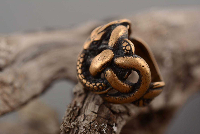 Homemade bronze ring photo 2