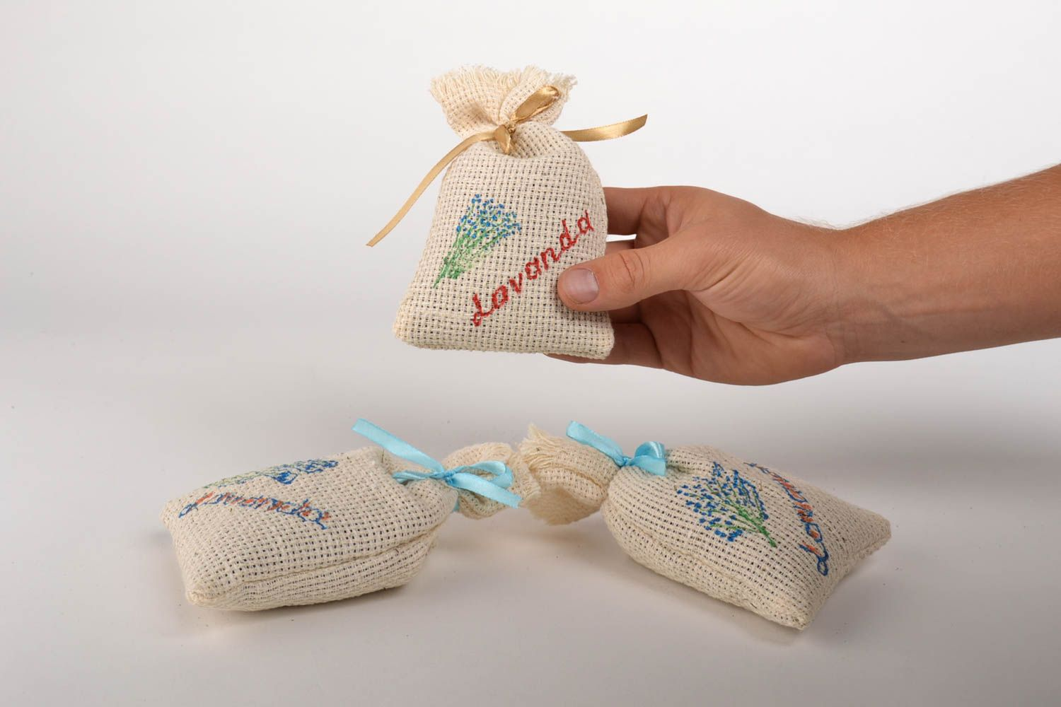 Handmade decorative sachet bag scented sachet bags 3 pieces small gifts photo 5