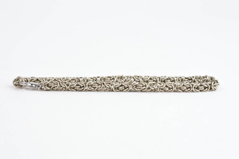 Handmade cupronickel bracelet chain weaving accessories designer bijouterie photo 2