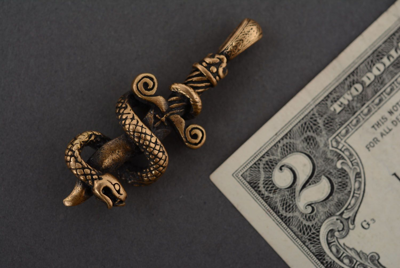 Бронзовая подвеска Змея и меч фото 2