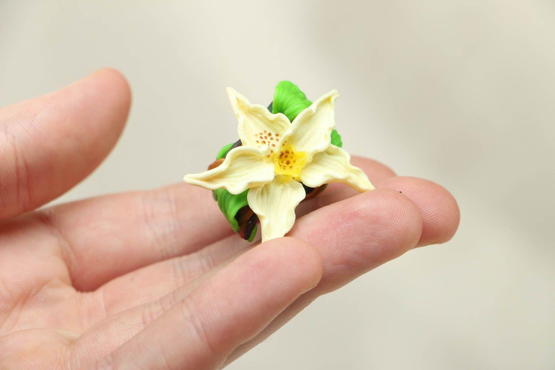 Blume Ring aus Polymerton foto 4