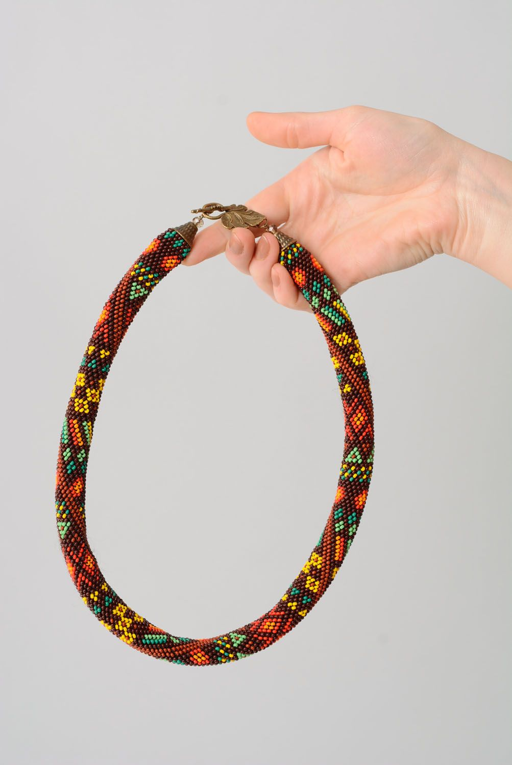Beaded cord necklace photo 4