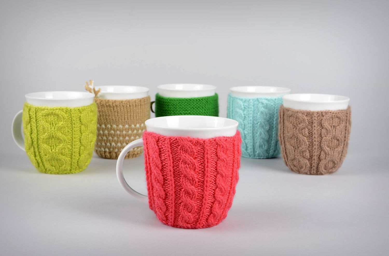 Madeheart > tasse pull tricot rouge fait main mug thé vaisselle ...