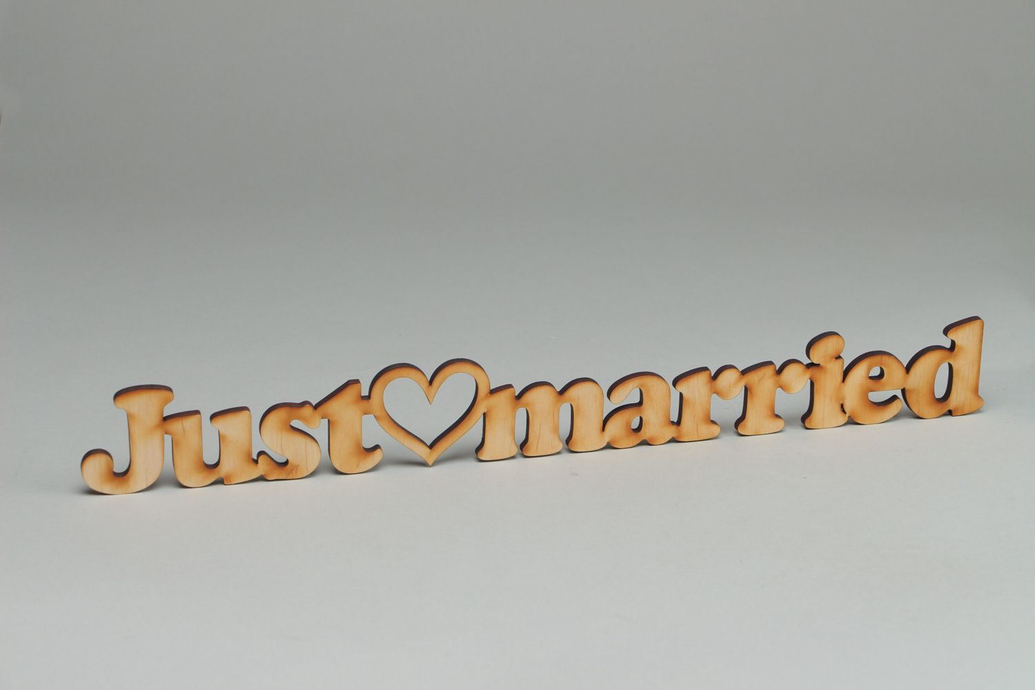 chipboards Plywood craft blank lettering Just Married - MADEheart.com