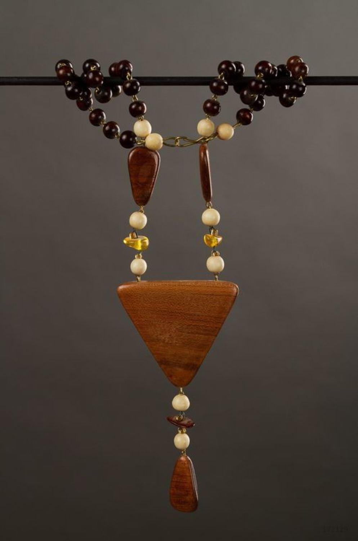 Hölzerne Perlenkette Dreieck foto 1