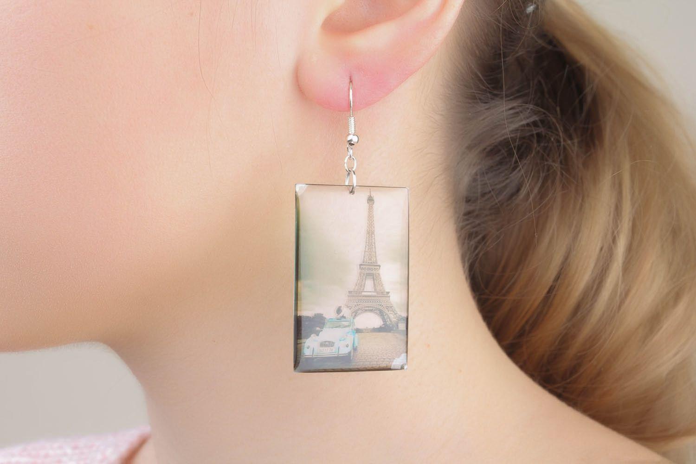 Photo print earrings Paris photo 4