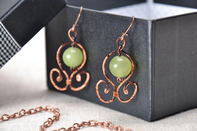 Elegant earrings with onyx photo 1