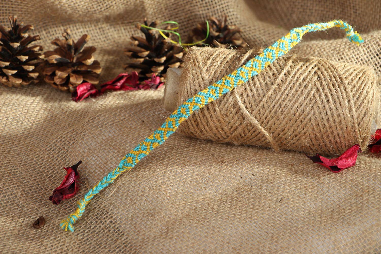 Macrame woven bracelet photo 5
