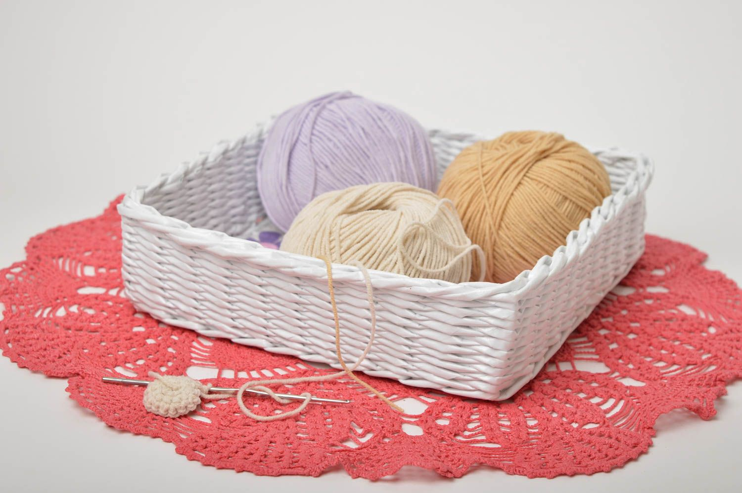 Handmade decorations woven basket paper basket gifts for women home decor photo 1