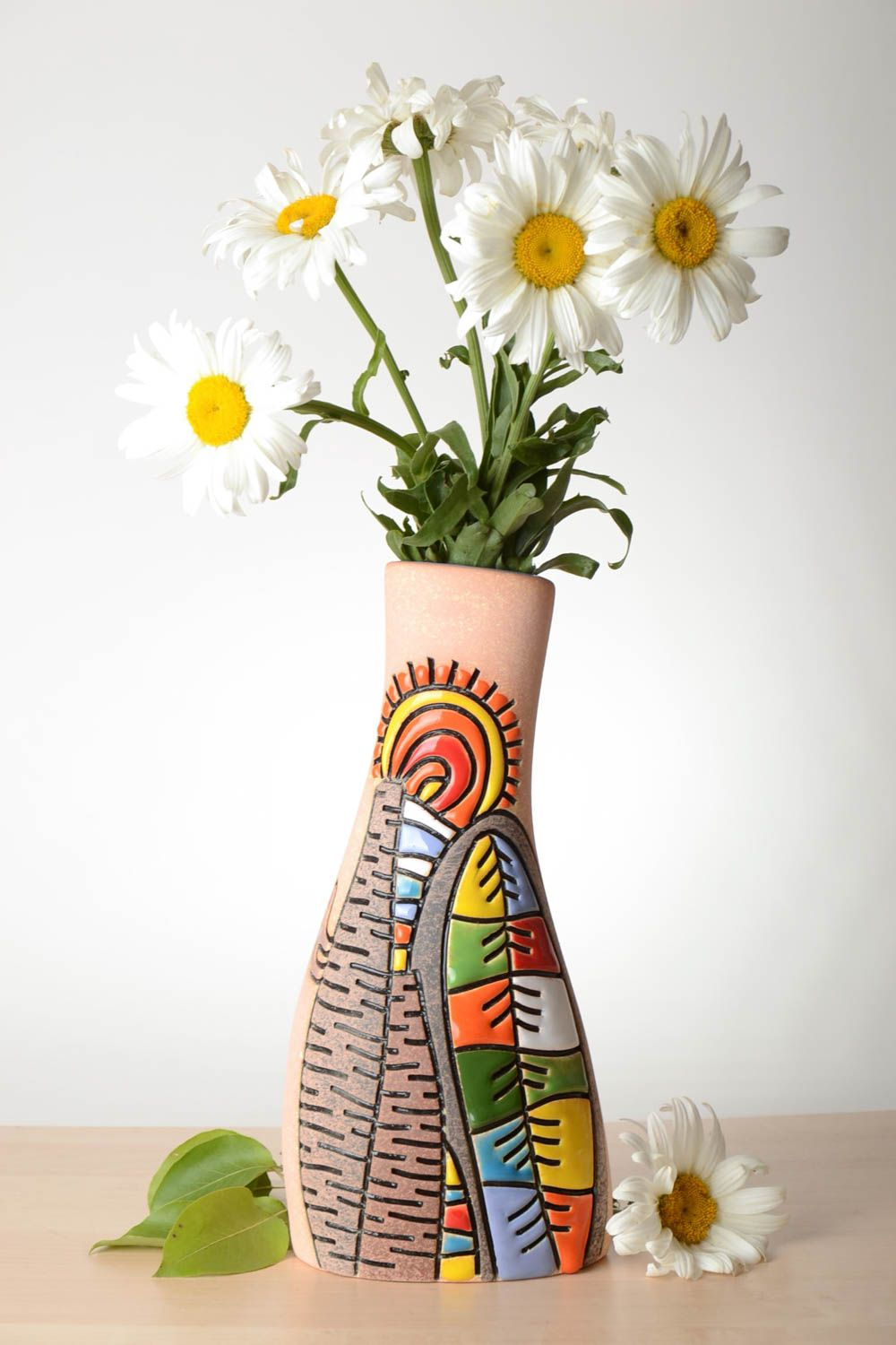 vases beautiful handmade ceramic vase homemade clay vase flower vase design gift ideas madeheart - Vase Design Ideas