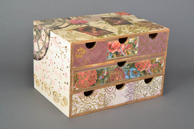 madeheart mini commode bijoux en bois technique de. Black Bedroom Furniture Sets. Home Design Ideas