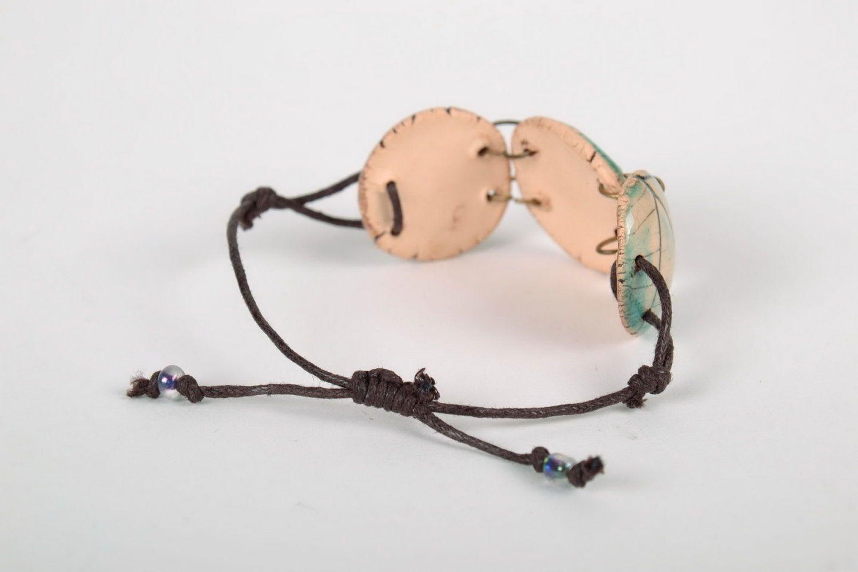 Joli bracelet en céramique fait main photo 4