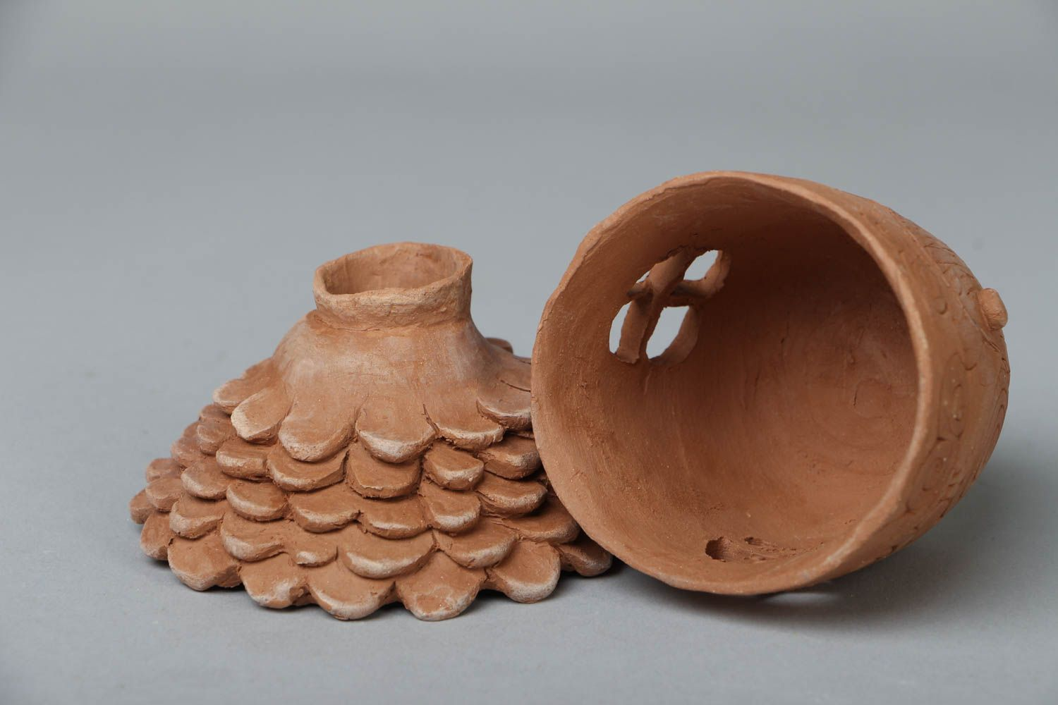 Ceramic aroma lamp in the shape of house photo 2
