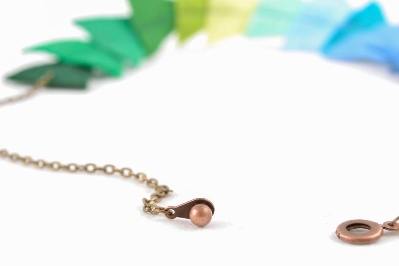 Bright felt bead necklace photo 5