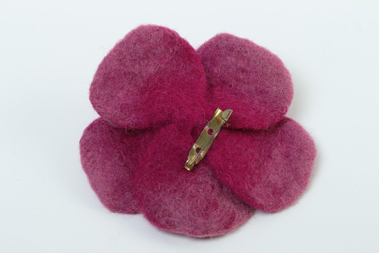 Unusual handmade wool brooch felted brooch jewelry costume jewelry designs photo 4