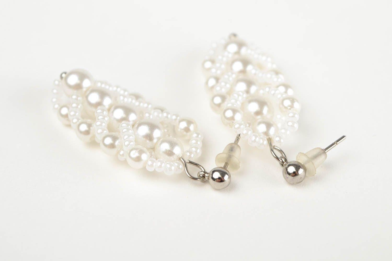 Handmade beaded earrings designer stylish jewelry unique bijouterie for woman photo 5