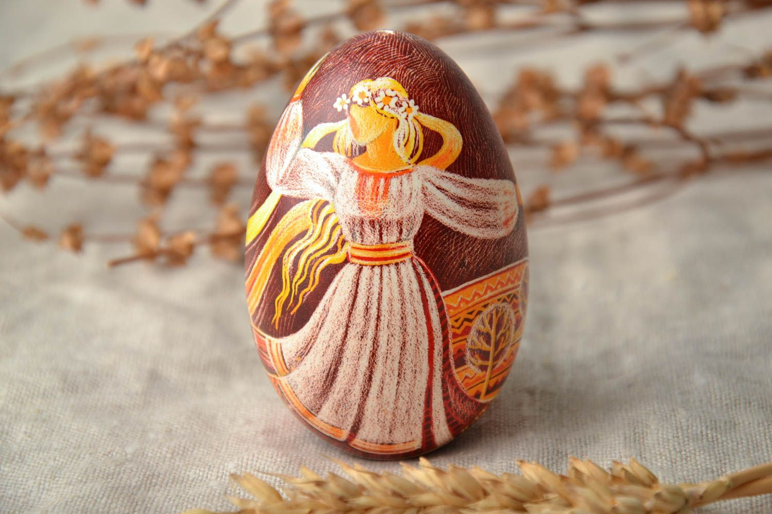 Designer pysanka in Ukrainian style Spring photo 2