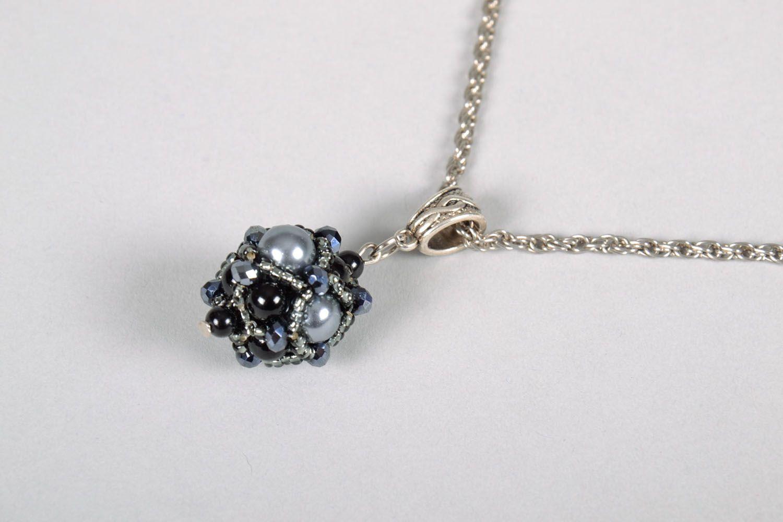 Pendant made of Czech beads photo 3
