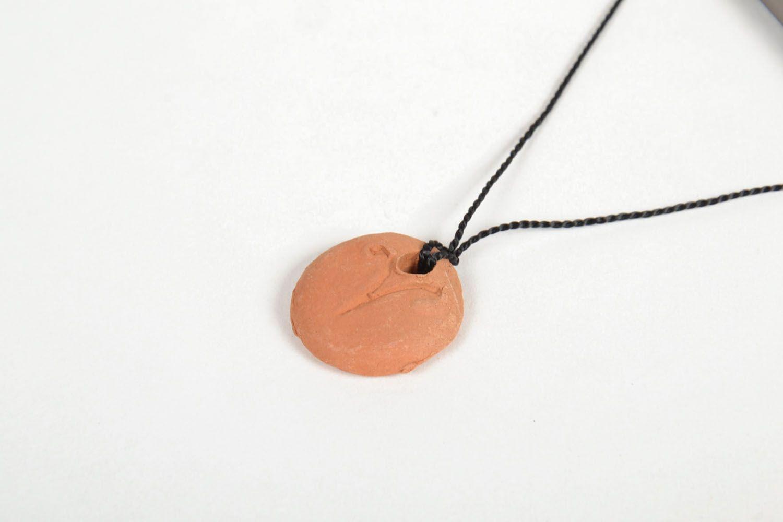 Ceramic pendant with zodiac sign photo 2
