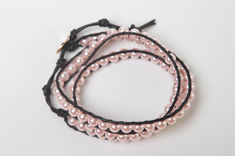 Handmade woven bracelet beaded bracelet designer accessory for every day photo 1