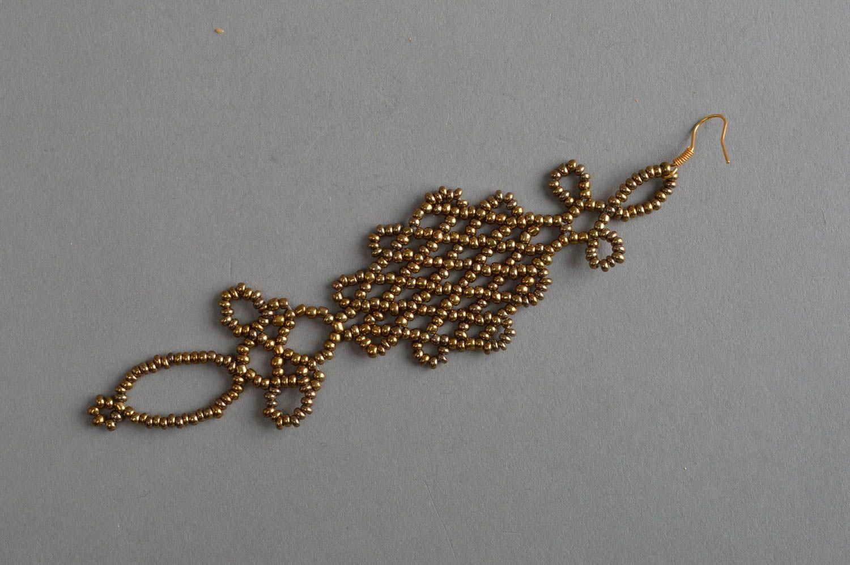 pendientes de abalorios Pendiente hecho a mano trenzado de abalorios bisutería fina regalo original , MADEheart